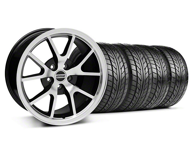 FR500 Style Black Machined Wheel & NITTO Tire Kit - 18x9 (99-04 All)