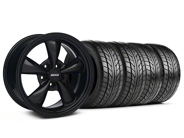 Bullitt Solid Black Wheel & NITTO Tire Kit - 17x9 (05-14 V6; 05-10 GT)