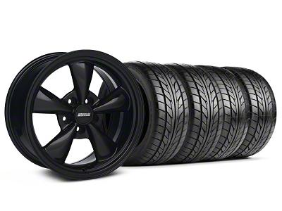 Bullitt Solid Black Wheel & NITTO Tire Kit - 17x9 (05-14 V6; 05-10 GT)