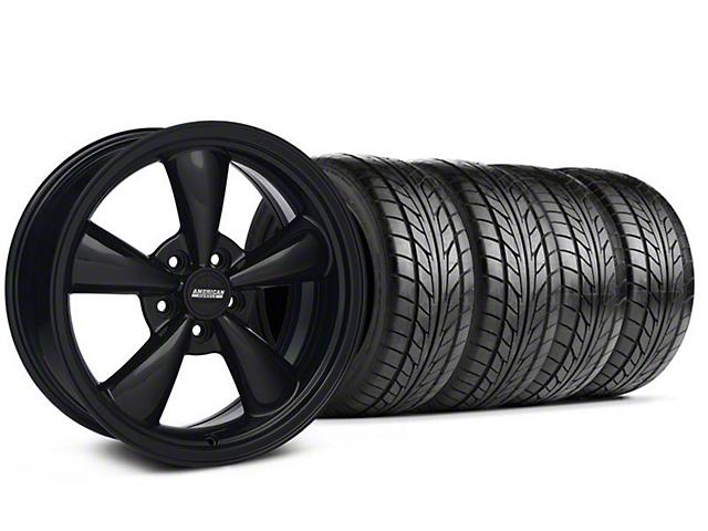 Bullitt Solid Black Wheel & NITTO Tire Kit - 18x8 (05-14 GT, V6)