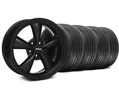 Solid Black Bullitt Wheel & Sumitomo Tire Kit 18x8 (05-10 GT; 05-14 V6)