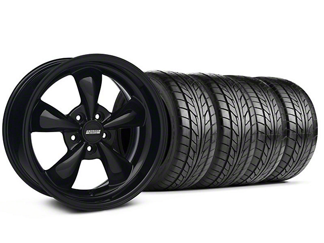 Bullitt Solid Black Wheel & NITTO Tire Kit - 18x9 (05-14 GT, V6)