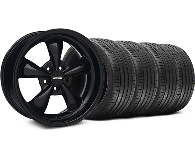 Bullitt Solid Black Wheel & Sumitomo Tire Kit - 18x9 (05-14 GT, V6)