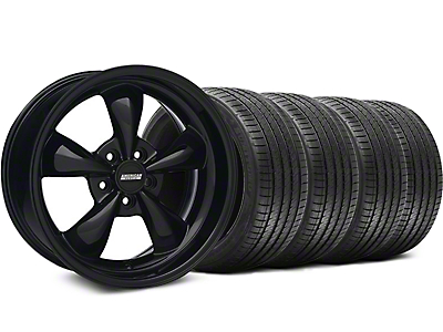 Solid Black Bullitt Wheel & Sumitomo Tire Kit 18x9 (05-10 GT; 05-14 V6)