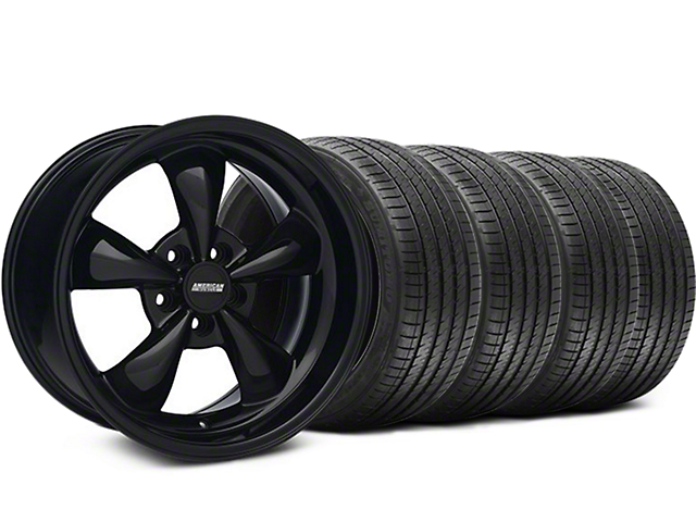 Staggered Bullitt Solid Black Wheel & Sumitomo Tire Kit - 18x9/10 (05-14 GT, V6)