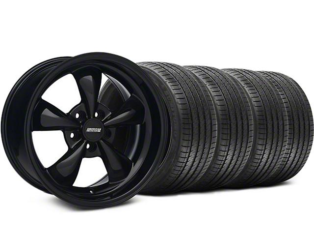 Staggered Bullitt Solid Black Wheel & Sumitomo Tire Kit - 18x9/10 (05-10 GT; 05-14 V6)