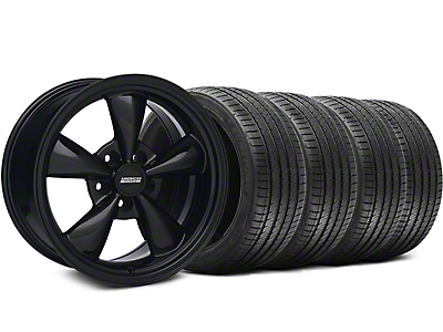 Solid Black Bullitt Wheel & Sumitomo Tire Kit 17x8 (94-04 All)