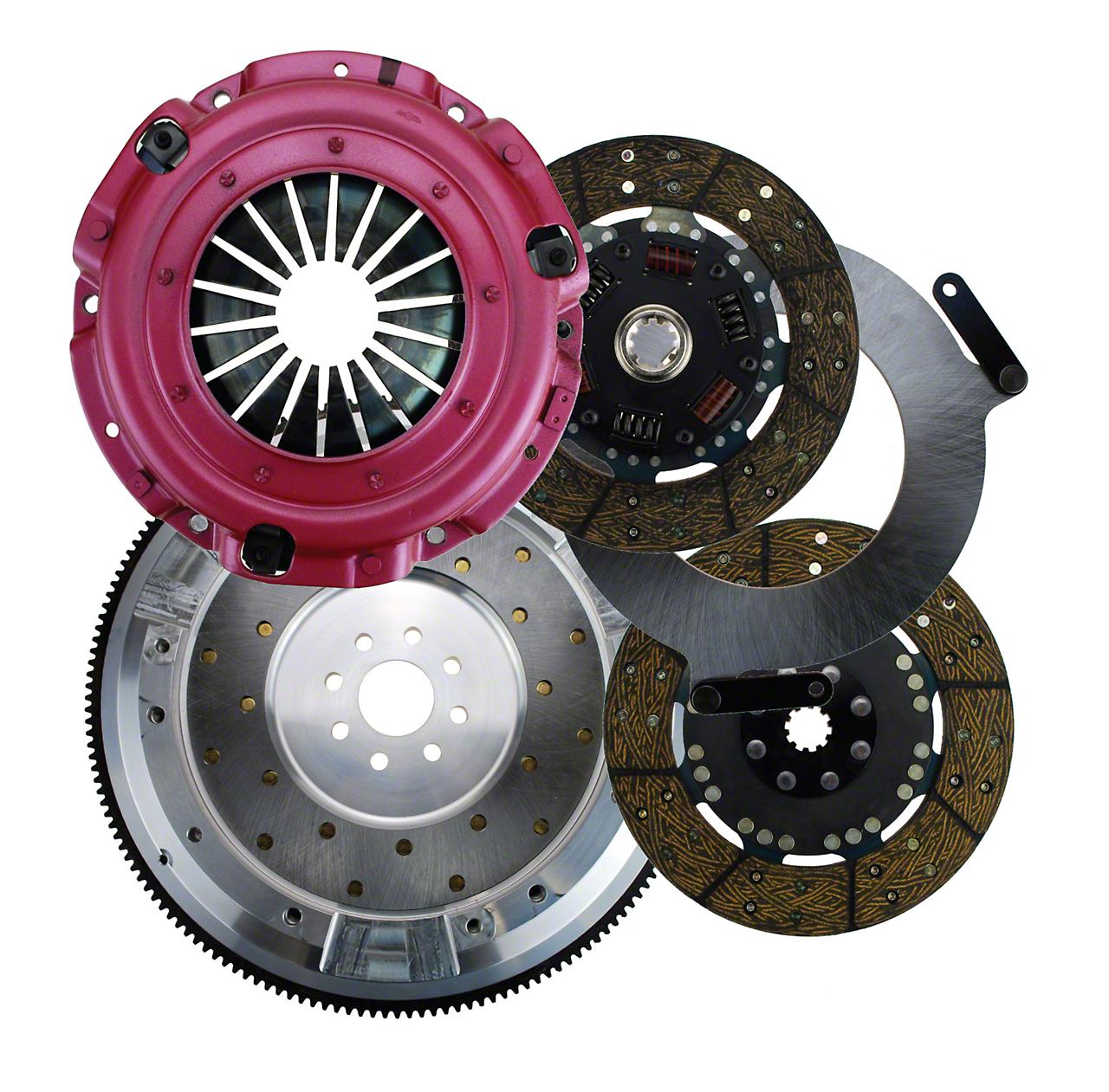 RAM Street Dual Disc Force 9.5 Clutch w/ Flywheel - 10 Spline - 8-Bolt (96-10 4.6L)