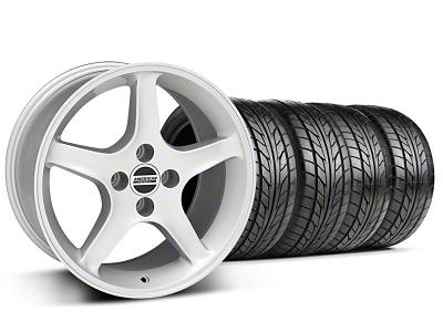 1995 Cobra R Style Silver Wheel & NITTO Tire Kit - 17x9 (87-93; Excludes 93 Cobra)