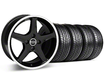 Black w/ Machined Lip 1995 Cobra R Wheel & Sumitomo All Season Tire Kit - 17x8 (87-93; Excludes 93 Cobra)