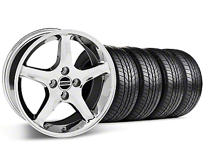 Chrome 1995 Style Cobra R Wheel & Sumitomo All Season Tire Kit- 17x8 (87-93; Excludes 93 Cobra)