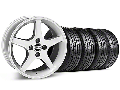 1995 Cobra R Silver Wheel & Sumitomo All Season Tire Kit - 17x8 (87-93; Excludes 93 Cobra)