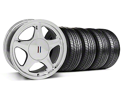 Pony Chrome Wheel & Sumitomo All Season Tire Kit - 17x8 (87-93; Excludes 93 Cobra)