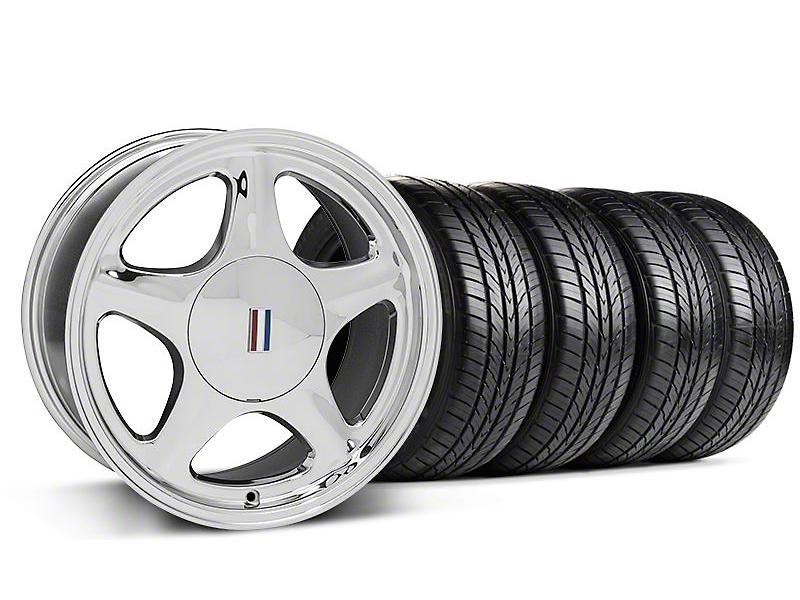 Pony Chrome Wheel & Sumitomo All Season Tire Kit - 17x8 (87-93; Excludes 93 Cobra)
