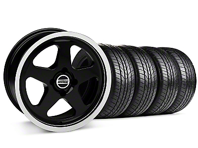 Black SC Style Wheel & Sumitomo All Season Tire Kit- 17x8 (87-93; Excludes 93 Cobra)