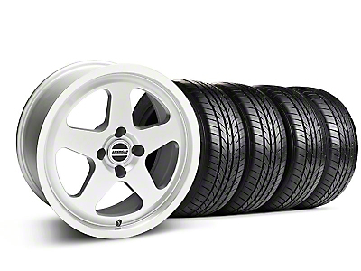 Silver SC Style Wheel & Sumitomo All Season Tire Kit- 17x8 (87-93; Excludes 93 Cobra)