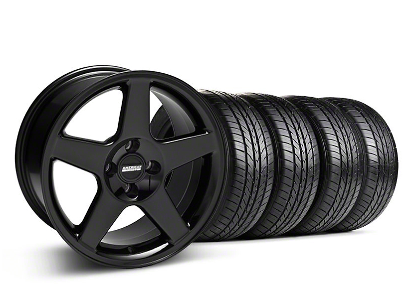 2003 Cobra Style Black Wheel & Sumitomo All Season Tire Kit - 17x9 (87-93; Excludes 93 Cobra)