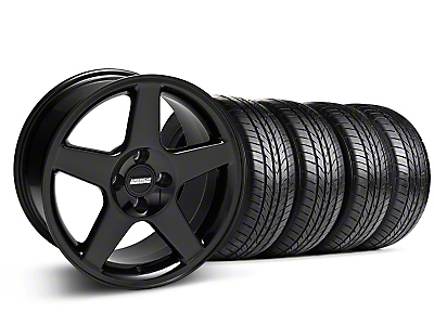 Black 2003 Style Cobra Wheel & Sumitomo All Season Tire Kit- 17x9 (87-93; Excludes 93 Cobra)