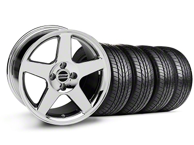 2003 Cobra Style Chrome Wheel & Sumitomo All Season Tire Kit - 17x9 (87-93; Excludes 93 Cobra)