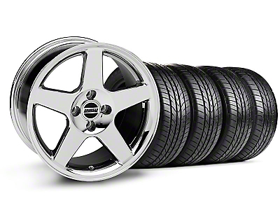 Chrome 2003 Style Cobra Wheel & Sumitomo All Season Tire Kit- 17x9 (87-93; Excludes 93 Cobra)