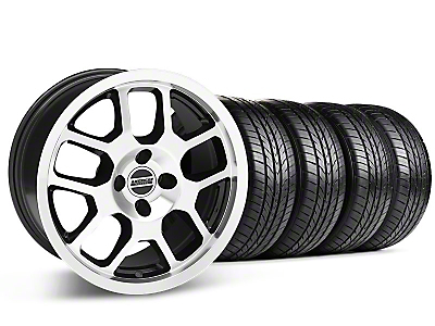2007 GT500 Style Black Machined Wheel & Sumitomo All Season Tire Kit - 17x9 (87-93; Excludes 93 Cobra)