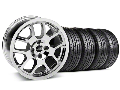 2007 GT500 Style Chrome Wheel & Sumitomo All Season Tire Kit - 17x9 (87-93; Excludes 93 Cobra)