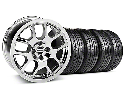 2007 GT500 Chrome Wheel & Sumitomo All Season Tire Kit - 17x9 (87-93; Excludes 93 Cobra)