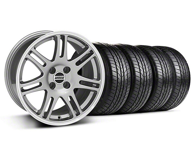 10th Anniversary Cobra Style Anthracite Wheel & Sumitomo All Season Tire Kit - 17x9 (87-93; Excludes 93 Cobra)