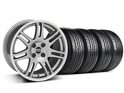 Anthracite 10th Anniversary Cobra Style Wheel & Sumitomo All Season Tire Kit- 17x9 (87-93; Excludes 93 Cobra)