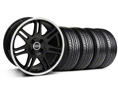 10th Anniversary Cobra Style Black Wheel & Sumitomo All Season Tire Kit - 17x9 (87-93; Excludes 93 Cobra)