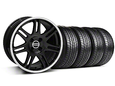 Black 10th Anniversary Cobra Style Wheel & Sumitomo All Season Tire Kit- 17x9 (87-93; Excludes 93 Cobra)