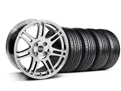 10th Anniversary Cobra Style Chrome Wheel & Sumitomo All Season Tire Kit - 17x9 (87-93; Excludes 93 Cobra)