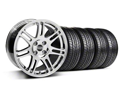 10th Anniversary Cobra Style Chrome Wheel & Sumitomo All Season Tire Kit - 17x9 (87-93; Excludes 93 Cobra)