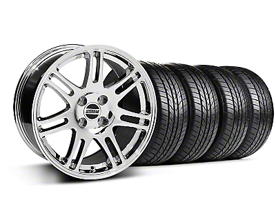 10th Anniversary Cobra Chrome Wheel & Sumitomo All Season Tire Kit - 17x9 (87-93; Excludes 93 Cobra)