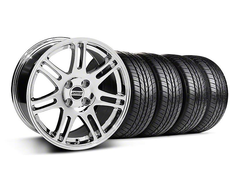 10th Anniversary Cobra Chrome Wheel & Sumitomo All Season Tire Kit - 17x9 (87-93; Excludes 93 Cobra)