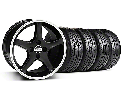 Black w/Machined Lip 1995 Style Cobra R Wheel & Sumitomo All Season Tire Kit- 17x9 (87-93; Excludes 93 Cobra)