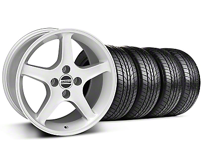 Silver 1995 Style Cobra R Wheel & Sumitomo All Season Tire Kit- 17x9 (87-93; Excludes 93 Cobra)