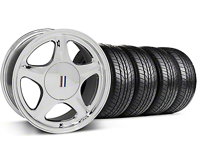 Pony Chrome Wheel & Sumitomo All Season Tire Kit - 17x9 (87-93; Excludes 93 Cobra)