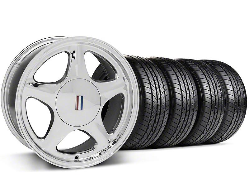 Pony Chrome Wheel & Sumitomo All Season Tire Kit - 17x9 (87-93; Excludes 93 Cobra)