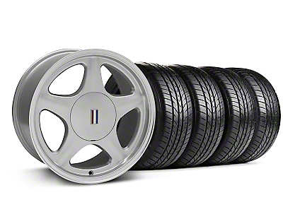 Pony Silver w/ Machined Lip Wheel & Sumitomo All Season Tire Kit - 17x9 (87-93; Excludes 93 Cobra)