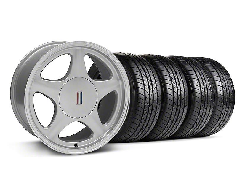 Pony Silver w/ Machined Lip Wheel & Sumitomo All Season Tire Kit - 17x9 (87-93; Excludes 93 Cobra)