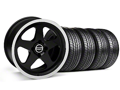 Black SC Style Wheel & Sumitomo All Season Tire Kit- 17x9 (87-93; Excludes 93 Cobra)