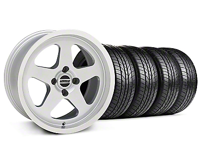 SC Style Silver Wheel & Sumitomo All Season Tire Kit - 17x9 (87-93; Excludes 93 Cobra)