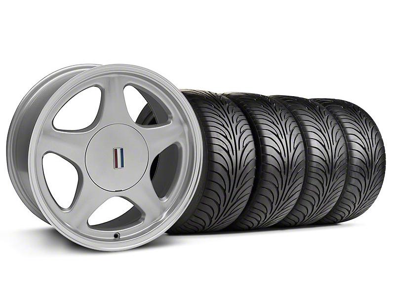 Pony Silver w/ Machined Lip Wheel & Sumitomo Tire Kit - 17x8 (87-93; Excludes 93 Cobra)