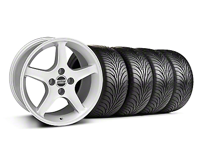 Silver 1995 Style Cobra R Wheel & Sumitomo Tire Kit- 17x9 (87-93; Excludes 93 Cobra)