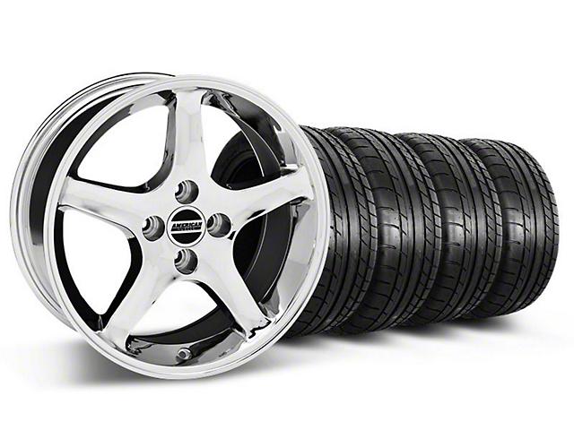 1995 Cobra R Style Chrome Wheel & Mickey Thompson Tire Kit - 17x8 (87-93; Excludes 93 Cobra)
