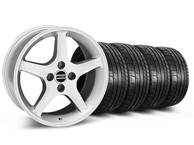 1995 Cobra R Style Silver Wheel & Mickey Thompson Tire Kit - 17x8 (87-93; Excludes 93 Cobra)