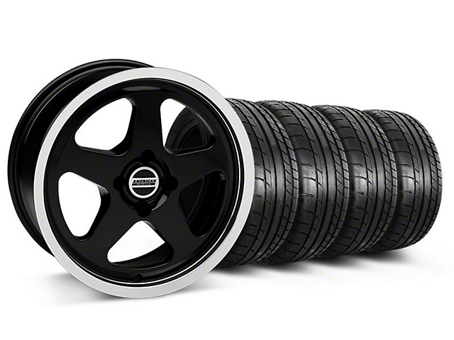 SC Style Black Wheel & Mickey Thompson Tire Kit - 17x8 (87-93; Excludes 93 Cobra)