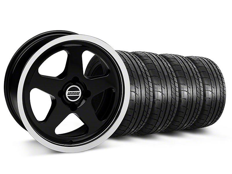 SC Style Black Wheel & Mickey Thompson Tire Kit - 17x8 (87-93; Excludes 93 Cobra)