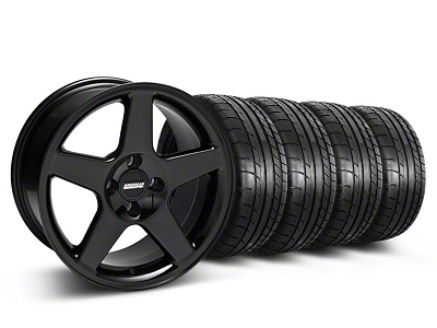 2003 Cobra Style Black Wheel & Mickey Thompson Tire Kit - 17x9 (87-93; Excludes 93 Cobra)